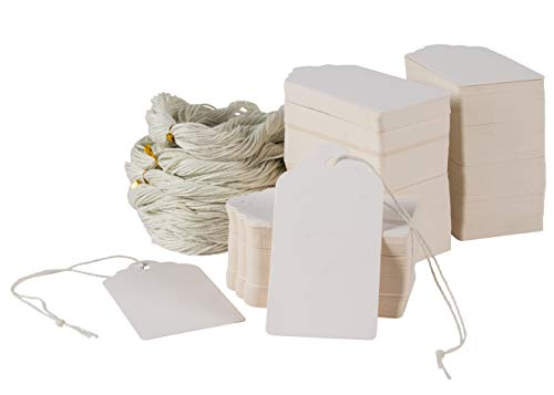 Gift Tags - 500-Pack Kraft Paper Tags with Jute Strings, Min