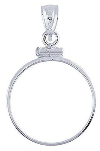 (US DIME BEZEL PENDANT Sterling Silver Coin Bezel Pendant for the US DIME - Screw Top Design)