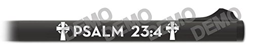 Shotgun Barrel Decal - Psalm 23:4 (White)