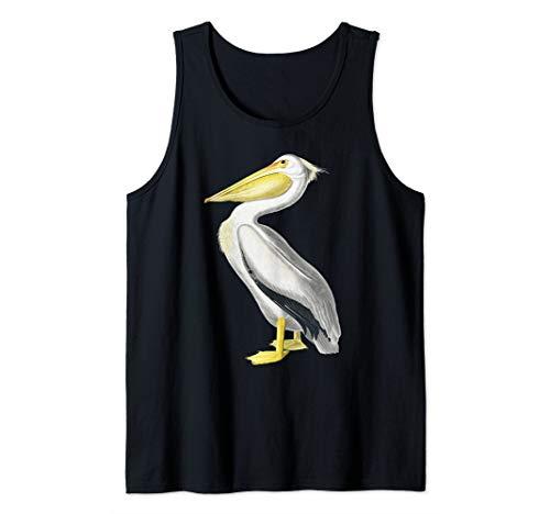 Pelican T-shirt Vintage Bird Graphic Tee White Pelican Tank ()