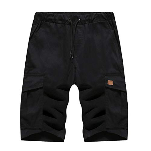 (Summer Fashion Men's Stickers Pocket Tether Elastic Sports Pants Shorts, Mmnote)
