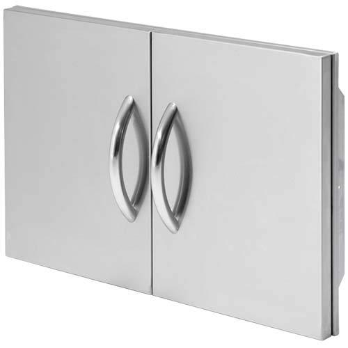 Cal Flame 089245002543 30 Outdoor Double Access Door, Stainless Steel