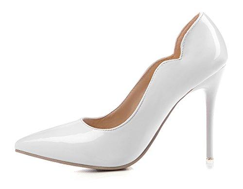 DE Femmes Bout Chic Luxueuses CM Blanc UH 10 Aiguille Sexy à Talon Haut et Escarpins Pointu et Elégantes UqB75zw