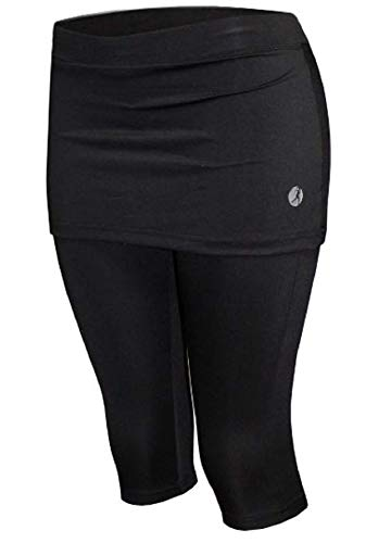 Necessity Skirt with Legging Attached (Skort Run Small) Black and Bright Colors (Medium, Black) -