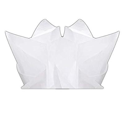 "Basic Solid White Bulk Tissue Paper 15"" x 20"" - 100 Sheets"