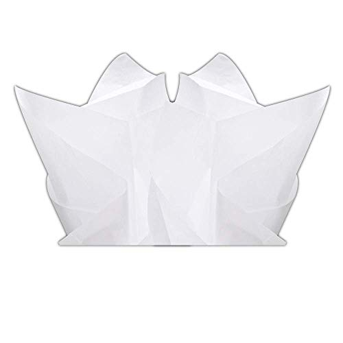 - Basic Solid White Bulk Tissue Paper 15 Inch x 20 Inch - 100 Sheets