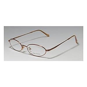 Vera Wang V09 Womens/Ladies Ophthalmic Original Oval Full-rim Flexible Hinges Eyeglasses/Eyeglass Frame (49-17-140, Bronze)
