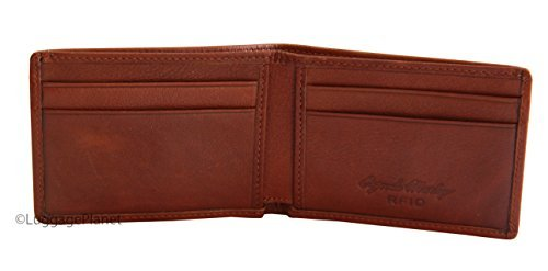 Osgoode Marley RFID Ultra Mini Thinfold Mens Bifold Wallet - Brandy ()