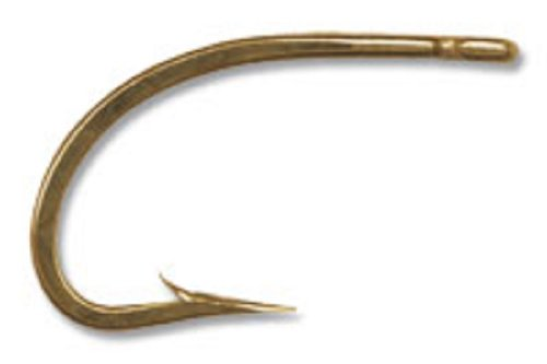 Mustad Classic Forged Extra Strong O'Shaughnessy Live Bait Hook with 3 Extra Short Shank (Pack of 100), Bronze, 2 ()