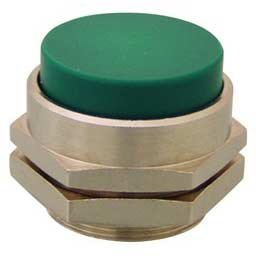 22 mm Clippard PC-4E-OR Extended Captivated Push Button Green Shown Orange