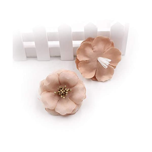 Fake-Flower-Heads-in-Bulk-Wholesale-for-Crafts-Artificial-Flowers-55-cm-Stamens-Silk-Plum-Blossom-Wedding-Dress-Flower-Head-DIY-Party-Festival-Home-Decor-Shoes-Apparel-Decoration-30pcs-Brown