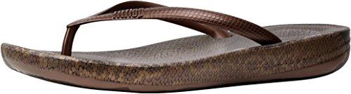 af7a4643452b9 FitFlop Women s Iqushion Ergonomic Flip-Flop Bronze Mix 10 M US