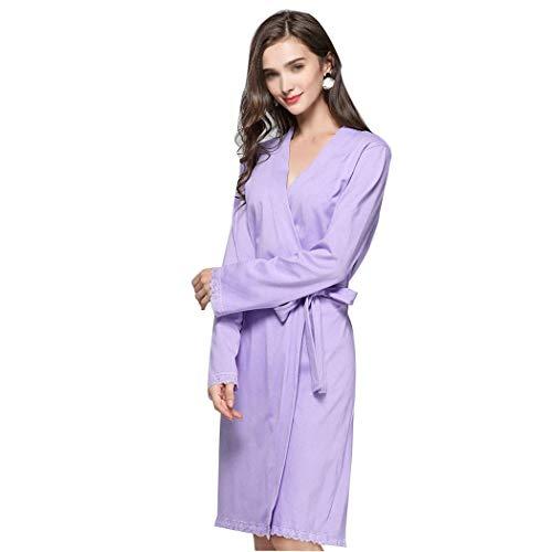 Otoño Primavera Huifa Suave A Y Purple Encaje Tamaño Mujeres En De Algodón Europa Traje color Largo Estados Las Xl Unidos Oscuro Pijamas Sexy El Azul 6rr7SHcWP