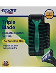 Equate Triple Blade Disposable Razors For Men (20 Razors)