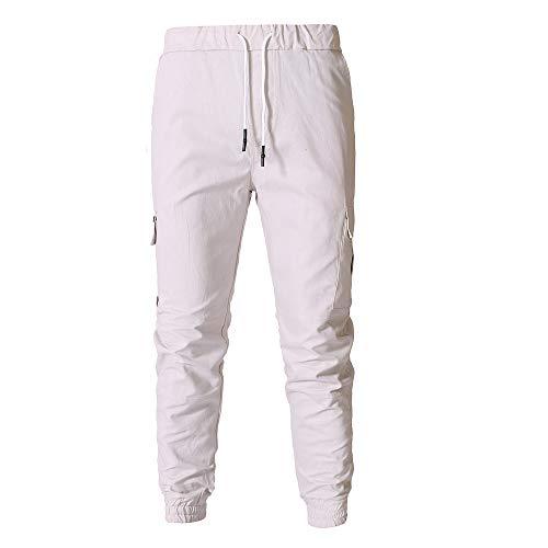 Lmryjq Bianco Lmryjq Bianco Uomo Lmryjq Pantaloni Pantaloni Uomo xZIpqSq
