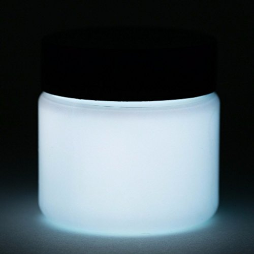 Glow in The Dark Paint - Premium Artist's Acrylic - 5+ Colors Available - 1 Ounce (Neutral White)