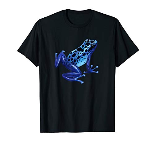 (Blue Poison Dart Frog Tee Colorful Design Nature Lover)