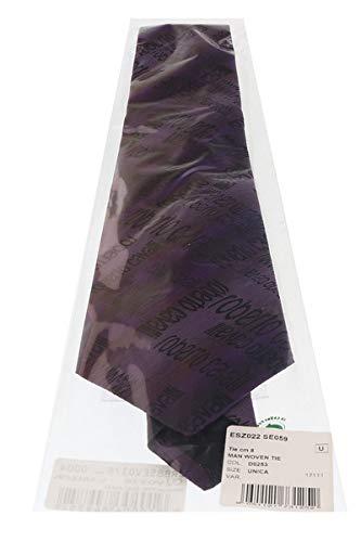 Roberto Cavalli ESZ022 D0253 Black//Violet Ikat Tie for Mens