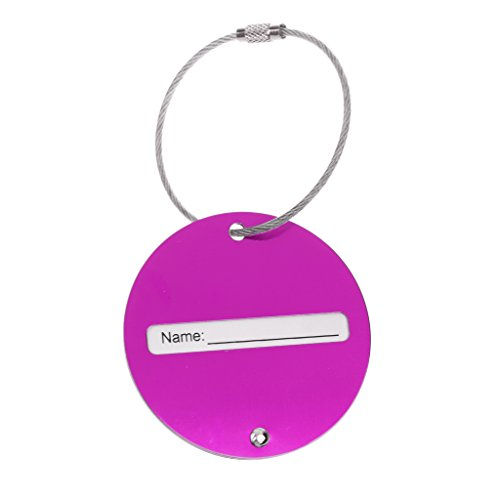 kokiya Bright Color Travel Luggage Baggage Tag Name Address Airplane Suitcase Label