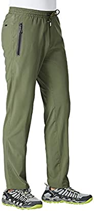 BGOWATU Men's Sweatpants Zipper Pockets Lightweight Exercise Pants Running Workout Sp