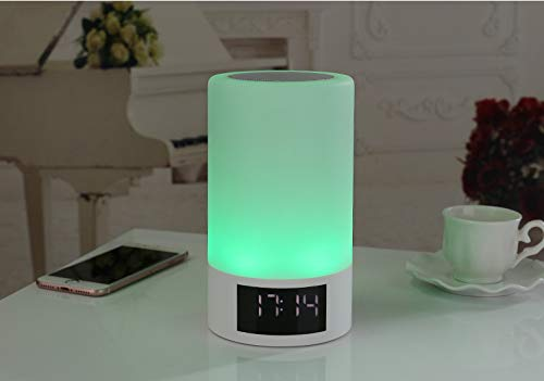 xingganglengyin Wireless Bluetooth Speaker Smart LED Bedside Light Touch Colorful Light with Alarm Clock Display Subwoofer by xingganglengyin (Image #4)