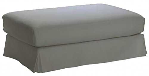 Cotton Hovas Ottoman Cover Replacement, For Ikea Hovas Footstool Slipcover. Cover Only! (Gray) (Ikea Ottoman Covers)