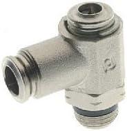 Screw Adjustment AIGNEP USA 57920-4-M5 Push-In Fittings Metallic Release Collet Needle Valve 4 mm Tube x M5 Thread