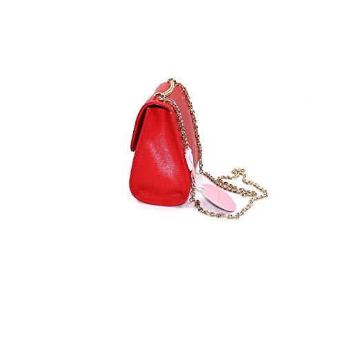 Marikassar mini bag läder polsk röd