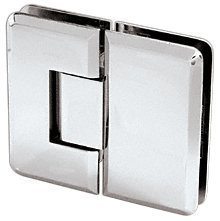 180 Series Chrome Glass (CRL Cologne 180 Series Chrome 180° Glass-to-Glass Hinge by C.R. Laurence)