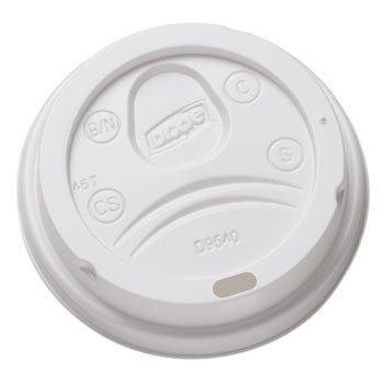 Sip-Through Dome Hot Drink Lids For 10 Oz Cups, White, 100/pack, (Dome Sip Lid)