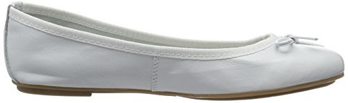 Tamaris 1-1-22165-28 952, Bailarinas Mujer Blanco (White Leather 117)