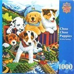 Greenpieces Choo Choo Puppies by Master Pieces