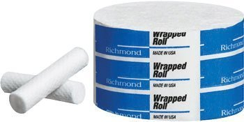 Richmond Dental Company 200404 Cotton Rolls Wrapped Junior N/S 1.5'' 2000/Bx
