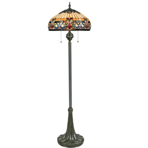 Quoizel TFBF9362VB 3-Light Belle Fleur Floor Lamp in Vintage Bronze