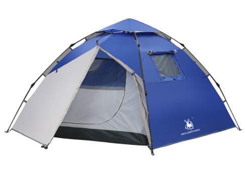アウトドア用品3-4人家族のレジャーダブル防雨キャンプテント春自動スケルトン   B07MZTC7YY