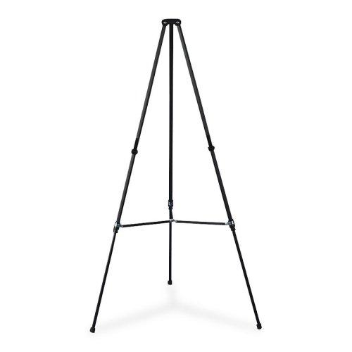 Wholesale CASE of 5 - Quartet Lightweight Aluminum Telescoping Easel-Telescoping Easel, Lightweight , Adjusts 38''-66''H, Black