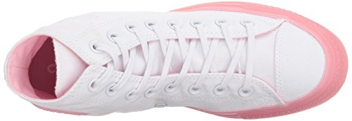 Converse Women's Chuck Taylor All Star Candy Coated High Top Sneaker, White/Cherry Blossom, 9.5 M US