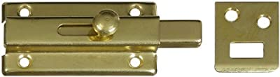 "Stanley 804060 - 2-1/2"" Bright Brass(3) Slide Bolt With Strike."