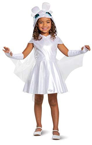 Train Costumes For Kids (Light Fury Classic How to Train Your Dragon Child Costume)