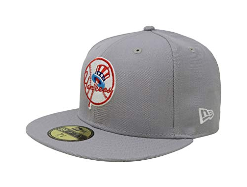 New Era 59Fifty Hat New York Yankees Cooperstown 1946 Wool Fitted Headwear Cap (7 1/8) Gray ()