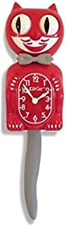 product image for Kit-Cat Klock Scarlet Game Day (Red, Grey, White) Battery Operated Cat Wall Clock. Model: BC-42GD.