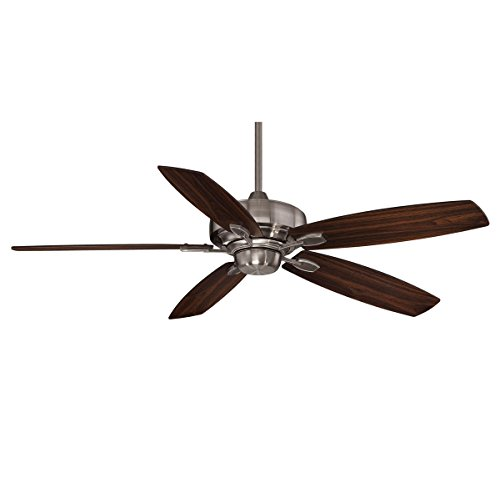 Savoy House 52-830-5RV-187 Downrod Mount, 5 Walnut / Chestnut Blades Ceiling fan, Brushed - Ceiling Pewter 52 Brushed Fan