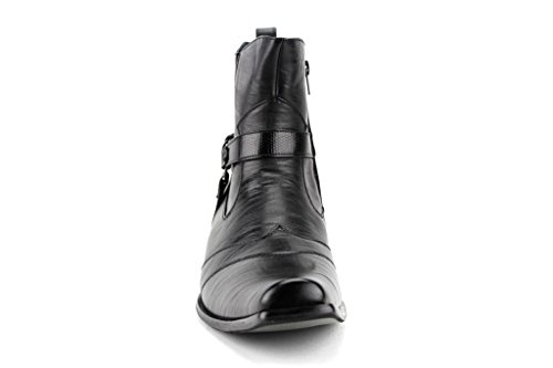 Saddle Boot Style Calf 698 Delli Western Casual Black High Aldo Dress Men's txvwwY60