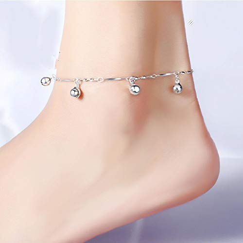 CTRCHUJIAN Fashion Summer Sexy Silver Twisted Bell  Anklet for Women  Pendant Chain Ankle Bracelet Foot ()