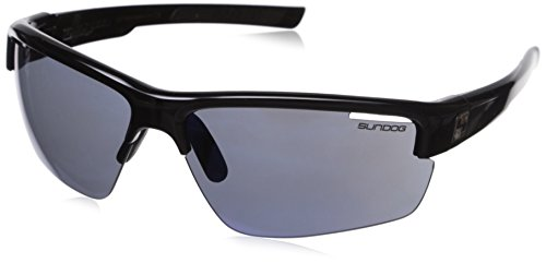 Sundog Draw 401013 Sunglasses, Shiny Black Frame/Smoke Light Blue - Sundog Sunglasses