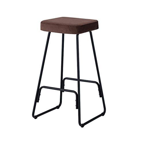 Bar Stool Height Fabric Stool Seat Pub Bistro Home Kitchen Dining High Chair LEBAO (Size : A)