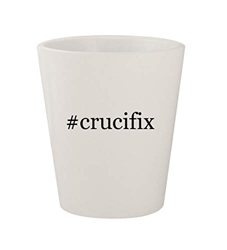 #crucifix - Ceramic White Hashtag 1.5oz Shot Glass