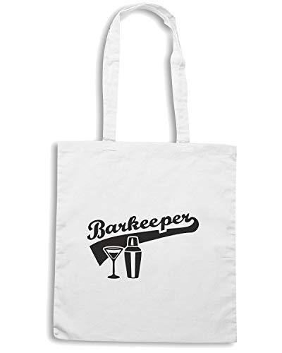 Speed Shirt Borsa Shopper Bianca BEER0150 BARKEEPER BARTENDER