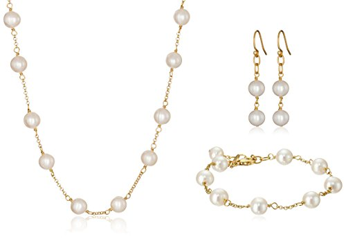 Freshwater Cultured Pearl Jewelry Set by Amazon Collection