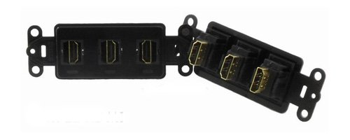PowerBridge HDMI-3-BK Pass-Thru Decora Insert with Triple HDMI (Each, Black)